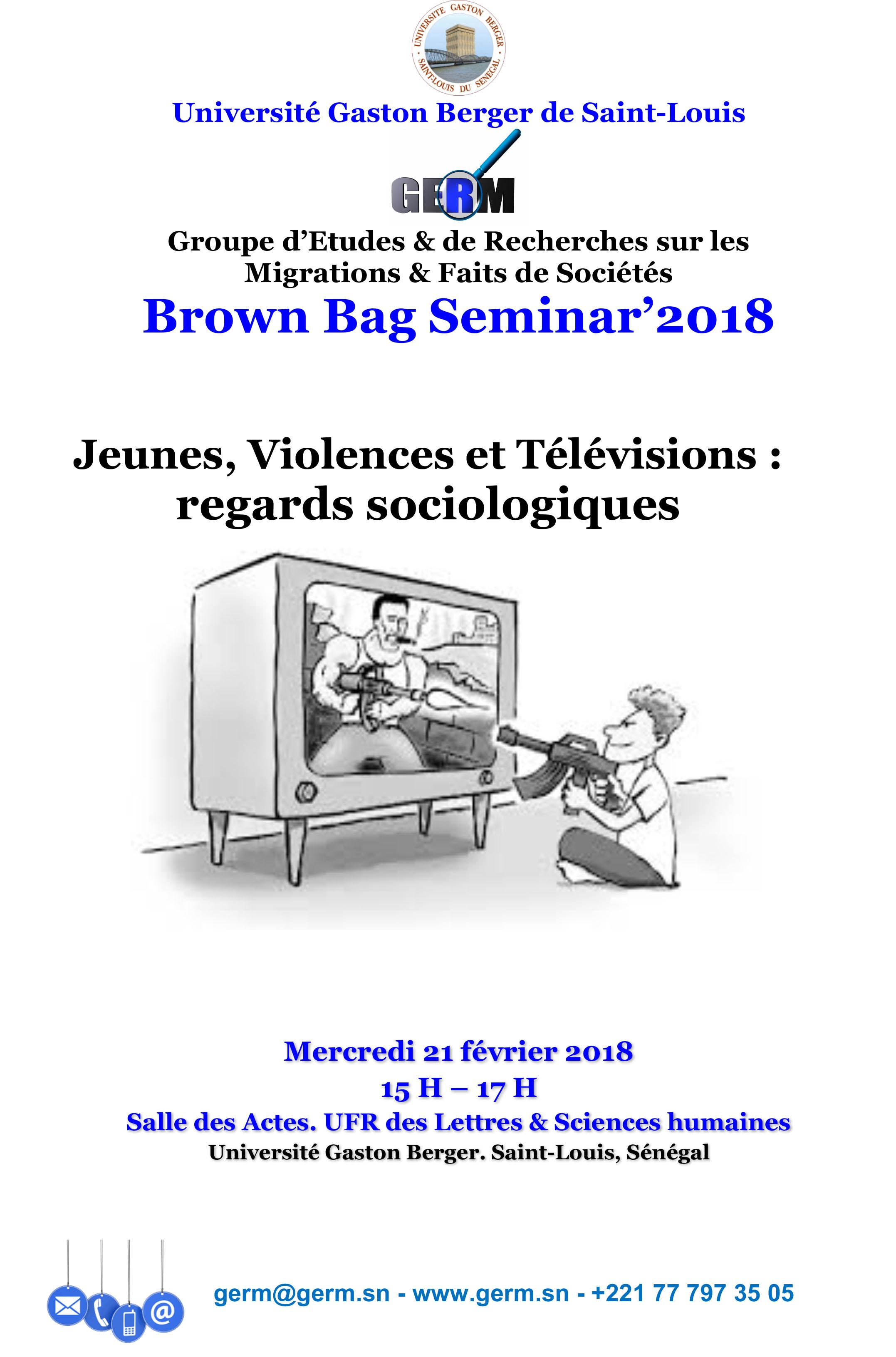 Avis Cuisine Hacker 2018 brown bag seminar'2018 – jeunes, violences et télévisions